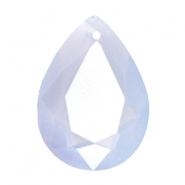 Drop shaped SQ faceted charms 13x18mm Air blue opal