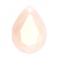 Drop shaped SQ faceted charms 13x18mm Beige light pink