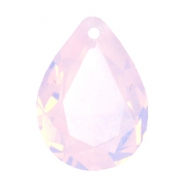 Drop shaped SQ faceted charms 13x18mm Rose water opal