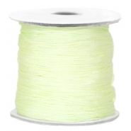 Macramé bead cord Light citrine green