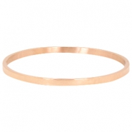 Stainless steel bracelet large Rose gold