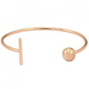 Stainless Steel bracelet bar&ball Rose gold