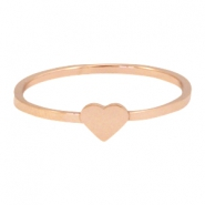 Stainless steel ring heart 19mm  Rose gold
