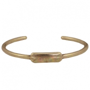 DQ metal findings bangle Antique bronze (nickel free)