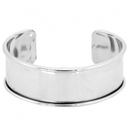 DQ metal findings bracelet base Silver (nickel free)