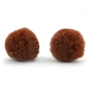 Pompom charm 10mm Brown
