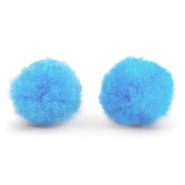 Pompom charm 15mm Light blue