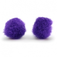 Pompom charm 10mm Purple