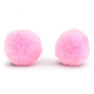 Pompom charm 15mm Light pink