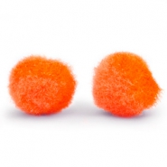 Pompom charm 15mm Spicy orange