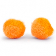 Pompom charm 10mm Tangerine orange