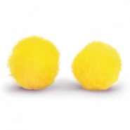 Pompom charm 10mm Yellow