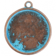 DQ setting with 1 loop for 35mm cabochon Copper blue platinum (nickel free)