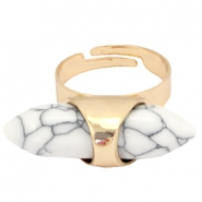 Must-have howliet stone look ring Gold