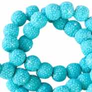 6 mm sparkling beads Lagoon blue