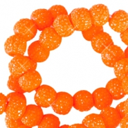 6 mm sparkling beads Bright orange