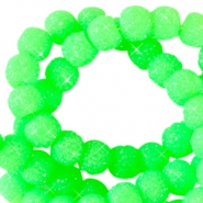 8 mm sparkling beads Neon green