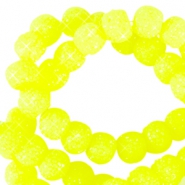 6 mm sparkling beads Neon yellow