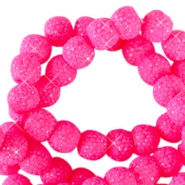8 mm sparkling beads Flourish fuchsia