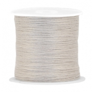 DIY beading thread Birch grey