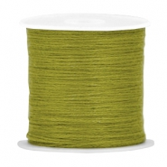 DIY beading thread Dark olivine green
