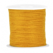 DIY beading thread Saffron yellow