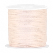 DIY beading thread Pale peach