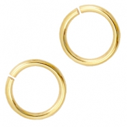 DQ metal jump ring 9mm Gold (nickel free)