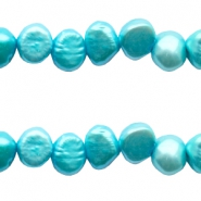 4-5mm Nugget freshwater pearls Aqua blue