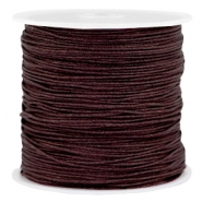 Macramé bead cord 0.8mm Dark chocolate brown