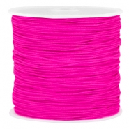 Macramé bead cord 0.8mm Super pink