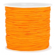 Macramé bead cord 0.8mm Spicy orange