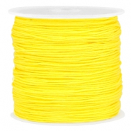 Macramé bead cord 0.8mm Bright yellow