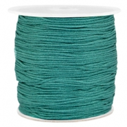 Macramé bead cord 1.0mm Emerald green