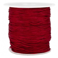 Macramé bead cord 1.0mm Aubergine red