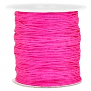 Macramé bead cord 1.0mm Hot pink