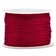 Macramé bead cord 0.5mm Aubergine red