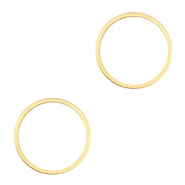 Connector DQ metal closed ring 15 mm Gold (nickel free)