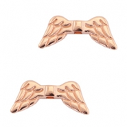 DQ metal angel wings beads Rose gold (nickel free)