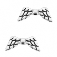 DQ metal angel wings beads Antique silver (nickel free)