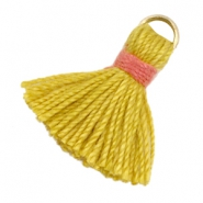 Tassels ibiza style 1.5cm Gold-mustard yellow-indian red