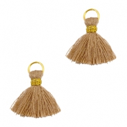Tassels ibiza style 1cm Gold-rust brown