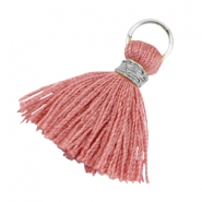 Tassels ibiza style 1.8cm Silver-antique rose