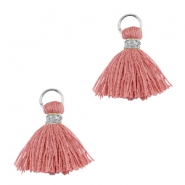 Tassels ibiza style 1cm Silver-antique rose