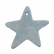 DQ leather charms star Grey