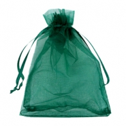 Jewellery organza bags 7x9cm Dark green