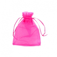 Jewellery organza bags 7x9cm Hot pink