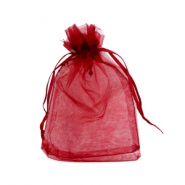Jewellery organza bags 10x13cm Dark red