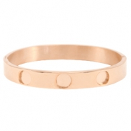 Polaris Steel bracelet 3 settings Rose Gold