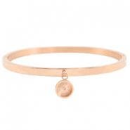 Polaris Steel bracelet with charms setting  Rose Gold